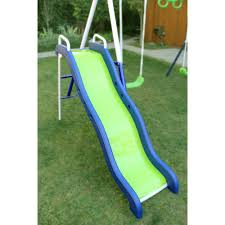 Flexible Flyer Lawn Swing Frame by Sportspower Outdoor Rosemead Metal Swing And Slide Set Walmart Com