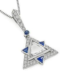 sapphire star necklace images Buy estate 0 90ct diamond sapphire star of david pendant necklace jpg
