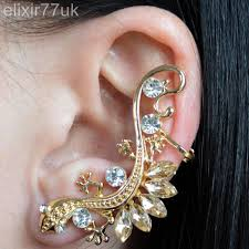 ear cuffs uk new gold lizard snake diamante stud earring ear