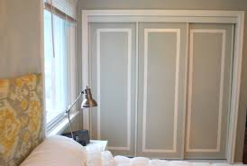 Diy Closet Door Painted Sliding Closet Doors Faux Trim Effect Closet Doors