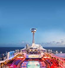 get 360 degree views of the sky from 300 feet above a cruise ship