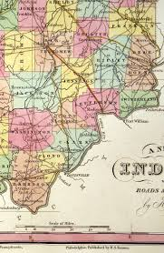 United States Map 1840 by A New Map Of Indiana U0027 U0027 C 1840 Tanner M 7864 295 00