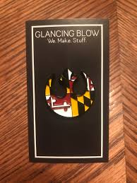 Maryland Flag Vinyl Star Wars Rebel Symbol X Maryland Flag Soft Enamel Pin
