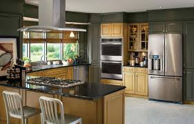 Southwest Kitchen Cabinets Dark Brown Kitchen Cabinets With Stainless Steel Appliances