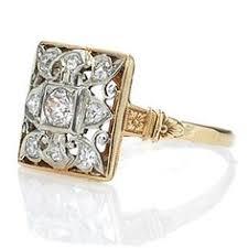 square art deco diamond cocktail ring 10 1 5345 lang antiques