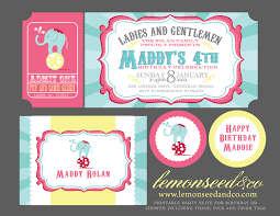 Printable Party Invitation Cards Carnival Birthday Party Invitations Circus Baby Shower Carnival