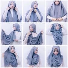 tutorial jilbab remaja yang simple square hijab tutorial