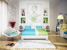 Contemporary Blue Bedroom - green blue white contemporary bedroom interior design ideas