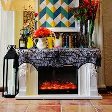 mantel scarf black spider fireplace mantel scarf decorations for home