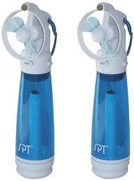 water bottle misting fan amazon com spt sf 241wm personal hand held misting fan set of 2