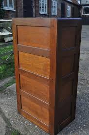 Oak File Cabinet 4 Drawer Vintage British Oak Filing Cabinet For Sale At Pamono