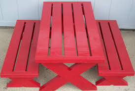 ana white build a modern childs picnic table or x benches diy