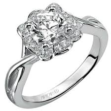 twisted shank engagement ring artcarved halo twisted shank engagement ring