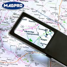 pocket magnifier with light magpro rectangular pocket led light magnifier for reading
