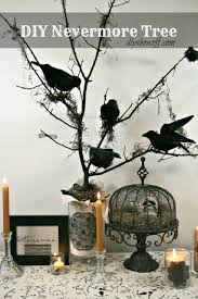 diy halloween nevermore tree decor diy halloween diy decorating