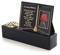 personalised grave marker with flower pot vase funeral tribute