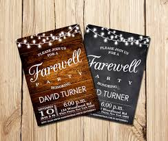 farewell gathering invitation farewell party invitation farewell invitation rustic