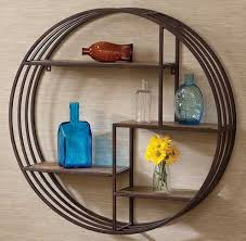 Decorative Metal Wall Shelves Decorative Small Metal Wall Shelf With Round Shape Home Interior