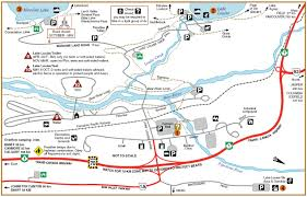 Jasper National Park Canada Map by Twin Lakes And Arnica Lake Hike