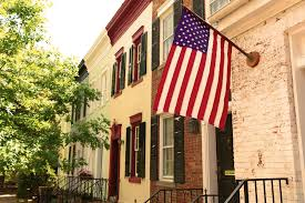 how to mount a flag on brick