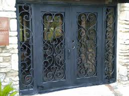 Iron Patio Doors Stunning Wrought Iron Security Gates For Patio Door Screen Pic Of