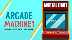 arcade machine sketch u0026 toon by ag4t 3docean