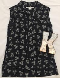 diane von furstenberg dvf silk blouse sleeveless womens sz 0 dvf