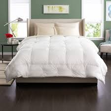 Feather Down Comforter Bedroom King Size Down Comforter With Brown Ceramic Floor And
