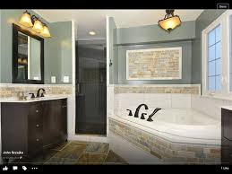 Small Bathroom Renovation Ideas Colors Half Tile Half Painted Wall Only With More Bold Colors In The