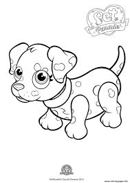 pet parade cute dog dalmatian coloring pages printable