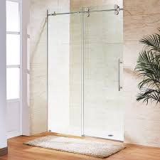 vigo elan 68 to 72 in frameless sliding shower door with 375 in vigo elan 68 to 72 in frameless sliding shower door with 375 in clear glass and chrome hardware shower bases amazon com