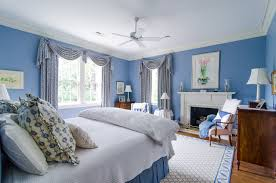 Bedrooms With Blue Walls Blue And White Bedroom Houzz