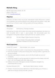 Sample Resume Undergraduate by Cv Template Ceo Customer Service Resume Examples Sample Cv