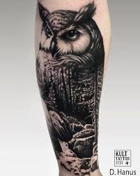 collection of 25 half sleeve full moon and owl tattoos