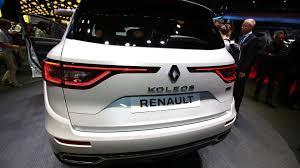 renault koleos 2017 engine renault koleos suv makes european debut in paris
