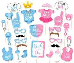 photo booth supplies 30pcs baby shower gender reveal party supplies boy or girl photo