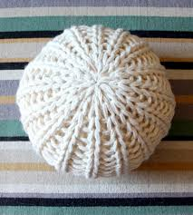knit home decor large knit pouf footrest home decor u0026 lighting mary marie