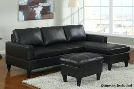 Cheap Black Leather Sectional Sofas Ottoman For Sectional Black Leather Sectional Sofa And Ottoman