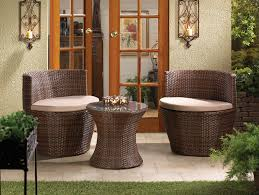 Wicker Patio Table And Chairs Brown Wicker Patio Set