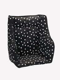 coussin chaise haute bebe coussin de chaise haute vertbaudet noir imprimé vertbaudet