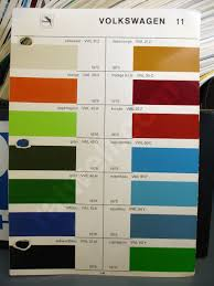 volkswagen beetle colors glasurit paint chips