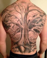 40 tree back designs for tattoos for