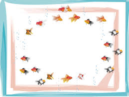 free swimming fish frame backgrounds for powerpoint animal ppt