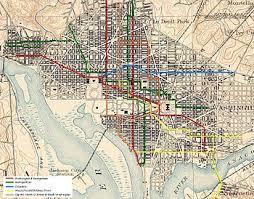 washington dc trolley map streetcars in washington d c