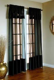 Curtains Decorations Decorations Modern And Black Transparent Curtain For