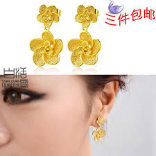 earrings models high imitation gold alluvial gold earrings roses models on