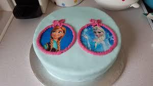 frozen birthday cake featuring olaf fondant