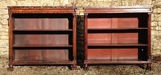 Narrow Mahogany Bookcase by Antique Cabinets U0026 Cupboards Hares Antiques