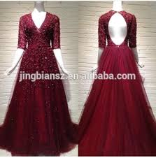gown design unit design luxury sleeve v neck lace evening gown