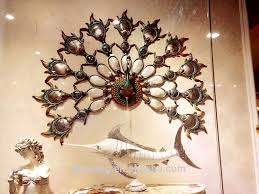 high grade peacock seashell home decoration wall hanging for wall